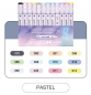 Preview: 12 Marker/Stifte Set -Pastel-